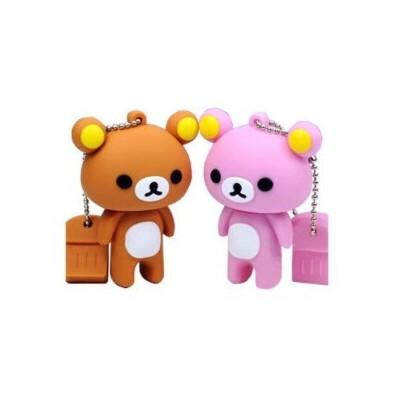 (创新科技)足量u盘8g 可爱 小熊优盘 卡通情侣 轻松熊u盘
