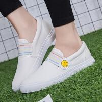 2017春季新款女鞋帆布鞋女韩版潮一脚蹬懒人鞋布鞋女学生平底鞋子