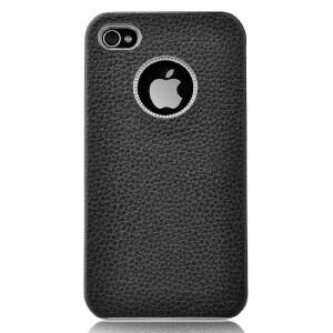 【当当自营】 COMMA珂玛 0476 iPhone4&4s金属质感真皮套 黑色