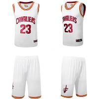 骑士队23号詹姆斯球服裤刺绣 男士篮球服套装  篮球训练服