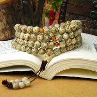 缘饰传说 全阴皮干磨星月菩提子佛珠手链108颗 正月 高密度