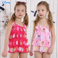 迪士尼可爱宝宝游泳衣儿童公主泳装温泉泳衣女童可爱分体裙式泳衣