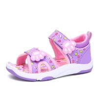 史努比童鞋 新款女孩露趾沙滩凉鞋透气儿童凉鞋