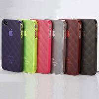 正品V2ROCK唯图诺克菱格iphone4/4S苹果手机套保护壳清水套高端 颜色随机