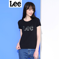 Lee女装商场同款2017春夏新品情侣女LOGO印花短袖T恤L190942ACK11 L190942ACK14