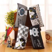 可爱猫妃韩国笔袋 学生铅笔袋 防水文具收纳袋 创意文具