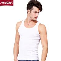 北极绒男士背心棉质透气打底修身运动健身紧身工字背心 薄汗衫