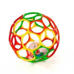 [当当自营]Bright Starts Oball 奥波大号软球摇铃 随机颜色发货 婴儿玩具 B81035