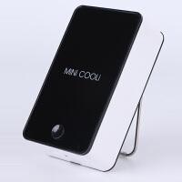 迷你掌上空调小电风扇创意USB加湿器风扇制冷可充电便携手持无叶 黑色 USB线+充电头+刷牙沙漏