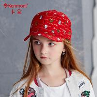 6-9岁儿童帽子秋冬女童帽圣诞节棒球帽中童鸭舌帽冬天小女孩帽子 4740