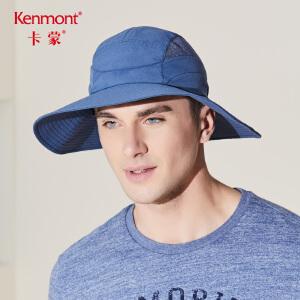 卡蒙渔夫帽男夏季户外速干防晒帽防紫外线遮阳帽可折叠户外钓鱼帽3411