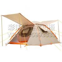 自动速开折叠帐篷 公园沙滩休闲双层帐篷 户外3-4人钓鱼防雨遮阳罩 草地郊外野餐露营帐篷
