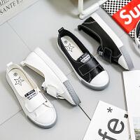 匡王2017夏季新款小白鞋女韩版低帮魔术贴休闲鞋平底板鞋浅口护士鞋
