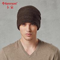 卡蒙针织帽男后托堆堆帽韩版潮卷边毛线帽秋冬天户外时尚包头帽1541