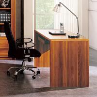 尚满 浅胡桃边框实木系列书房家具书桌 办公电脑桌写字台 办公桌带键盘工作台 (不含椅子)