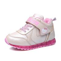 hello kitty女童鞋儿童棉鞋运动鞋冬季新款加绒保暖小童学生K6453DD710