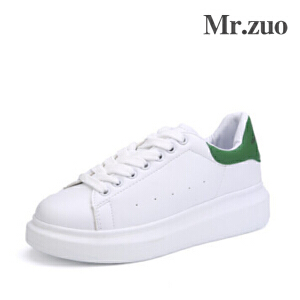 2017Mr.zuo新款韩版女款炫彩小白鞋
