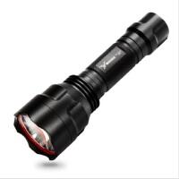 雅格LED骑行手电筒 充电式强光手电筒远射户外露营家用小手电YG-311C
