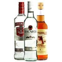 斯米诺伏特加红牌 + 苏格兰牧羊犬威士忌 + 百加得白朗姆酒 2000ml
