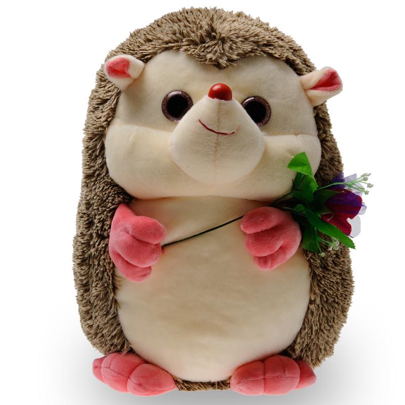 饭米粒毛绒玩具刺猬公仔可爱布娃娃儿童玩偶小动物
