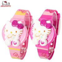 HELLO KITTY 儿童卡通表数字表凯蒂猫女孩手表腕表跳字表可换面换带HKSQ76-07