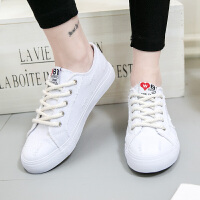 2017新款帆布鞋女韩版学生百搭休闲鞋系带平底板鞋
