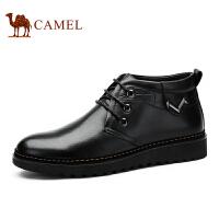 camel 骆驼男靴 英伦休闲皮靴 秋冬新款头层皮保暖皮靴