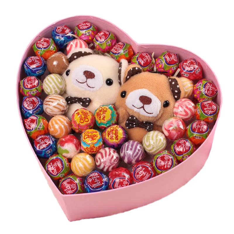 40颗 可爱真知棒 阿尔卑斯 珍宝珠 水果棒棒糖果礼盒装