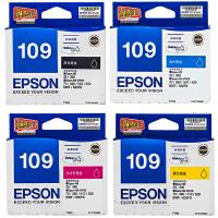 爱普生原装 EPSON 109墨盒 T1091黑色墨盒 T1092青色 T1093洋红色 T1094黄色 爱普生EPSON ME30 ME300 ME70 ME360 ME1100 ME510 ME520 ME600F ME650FN打印机墨盒