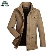 战地吉普Afs Jeep春装新品男士夹克外套 商务休闲 户外工装夹克 中长款立领夹克外套