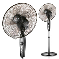 志高16A38RC黑色机械电风扇家用落地扇遥控学生宿舍办公静音