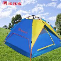 探路者2016夏季新款户外三人一居室液压自动速开帐篷KEDE80451