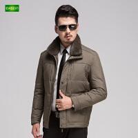 逸纯印品(EASZin)男士棉衣 中年 短款 拉链 立领 冬季爸爸装 加厚外套