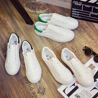 匡王2017夏季韩版透气小白鞋学生平底鞋白色板鞋系带女鞋休闲鞋单鞋运动鞋