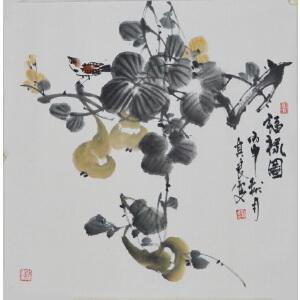 刘其良《福禄图》香港美术家协会会员,中国国画家协会理事