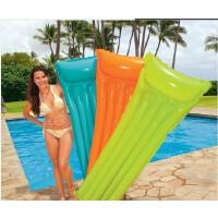 INTEX荧光充气浮排 浮床 水床 海滩垫 充气垫 水排