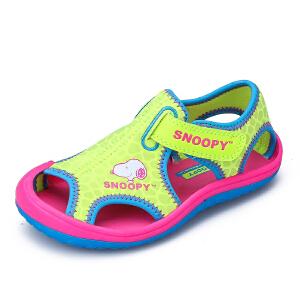 史努比沙滩凉鞋耐磨减震防滑舒适童凉鞋