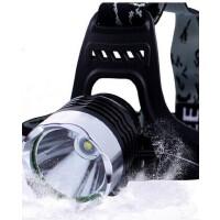 H3强光T6头灯 强光 充电10W LED 自行车灯户外装备 户外矿灯