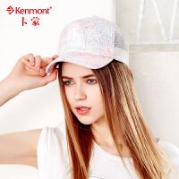 kenmont鸭舌帽女韩版潮时尚嘻哈帽夏天帽子遮阳透气棒球帽太阳帽3360