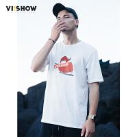 VIISHOW2017新品休闲短袖T恤男大护法电影联名款情侣款潮t运命t