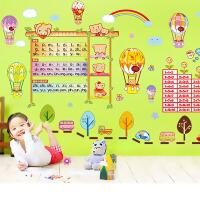 宜美贴(Yimt) 卡通早教尺 儿童房卧室背景墙面可爱熊宝宝装饰墙贴 S035