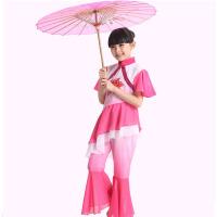 表演服粉红色幼儿古典舞民族舞蹈粉红色儿童圣诞节演出服粉红色女童汉族秧歌舞服装