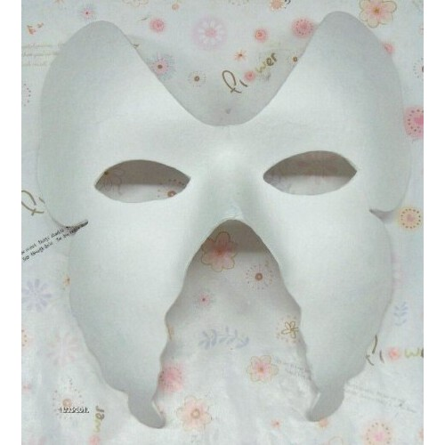 diy手绘 考拉面具 白色面具