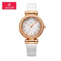 正品聚利时明星同款手表 立体切割镶钻皮带学生白领 石英女士手表JA-778