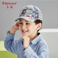 kenmont男童拼接棒球帽韩版潮秋冬时尚卡通拼接图案鸭舌帽儿童帽5859