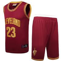 篮球训练服男士篮球服套装 骑士队23号詹姆斯球服裤刺绣