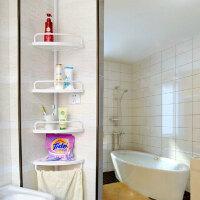 顶天立地伸缩卫浴室角架 置物架三角架厕所转角架
