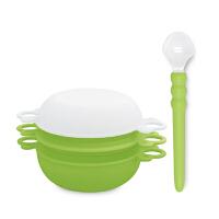 小白熊 宝宝研磨碗勺组合 婴儿童餐具 09062