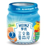 【当当自营】亨氏 Heinz三文鱼番茄泥 2段(6-36个月)113g/瓶 宝宝辅食