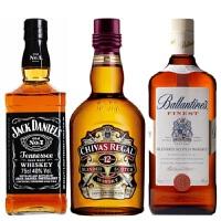 杰克丹尼威士忌 + 芝华士12年苏格兰威士忌 + 帝王12年苏格兰威士忌